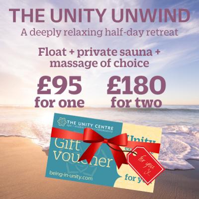 The Unity Unwind gift voucher
